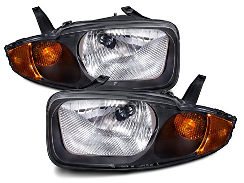 atible with Chevy Cavalier New Headlights Set Headlamps Pair ()
