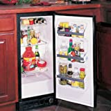 Marvel 30ARM-WW-F-R 15 Built In Compact Refrigerator with 2.9 cu. ft. Capacity Chrome Plated Wire Shelves LED Temperature Display Door and High/Low Temperature Alarm: White with Right