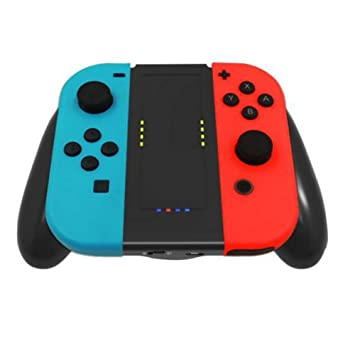 Charging Grip Comfort Handle Holder Cargador de energía + USB cable para Nintendo Switch Joy-Con