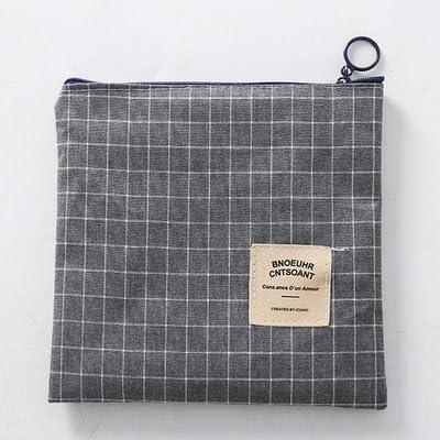 Muebles Necesidades diarias WWYXHQC Lienzo de algodón bolsillos de salud de compresas higiénicas en paquete pequeño gran tía toalla bolsa 16.8 Tartan gris