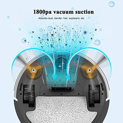 BL Aspirateur Robot, 1800Pa Strong Suction, 3.1in Thin, Self-Charging Robotic Cleaners, Anti-Fall & Obstacles Detection, Auto Sweeper for Hardwood Floor Carpet Tile