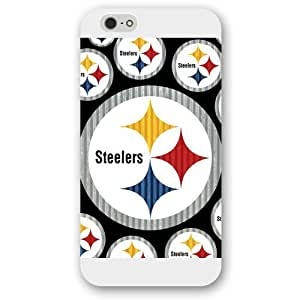 "KOKOJIA Customized NFL Series Case for iPhone 6+ Plus 5.5"", NFL Team Pittsburgh Steelers Logo iPhone 6 Plus 5.5"
