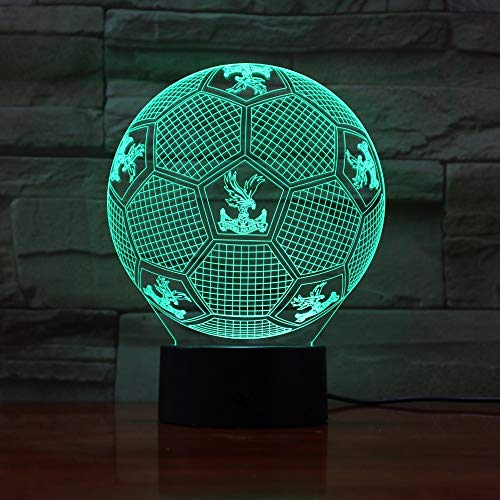 (QIANDONG1 7 Colorful Gradients Atmosphere Lamp 3D Led Night Light USB Table Bedside Lamp 3D Globe Lamp Crystal Palace)