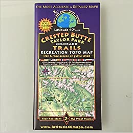 Taylor Park Colorado Map.Crested Butte Taylor Park Recreation Topo Map Latitude 40