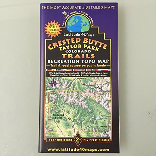 Crested Butte - Taylor Park Recreation Topo Map ()