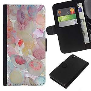 A-type (Jellyfish Pastel Colors Sea) Colorida Impresión Funda Cuero Monedero Caja Bolsa Cubierta Caja Piel Card Slots Para HTC DESIRE 816