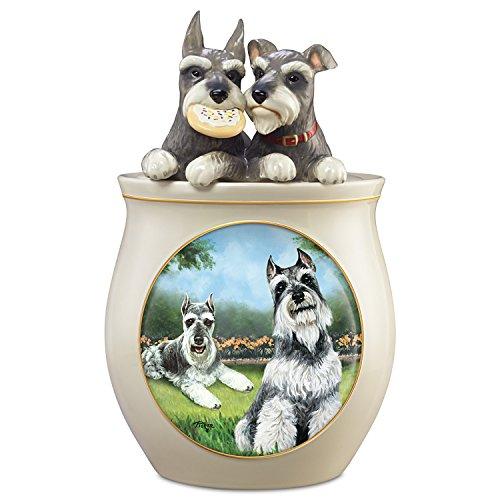 Linda Picken Schnauzer Art Collectible Ceramic Cookie Jar by The Bradford Exchange
