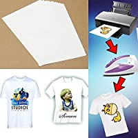 TOTAL HOME: Newest 5/10 Sheets A4 T-Shirt Print Iron-On Heat Transfer Paper Sheets for Dark/Light Fabric 5/10pcs (Size: Pack of 10)
