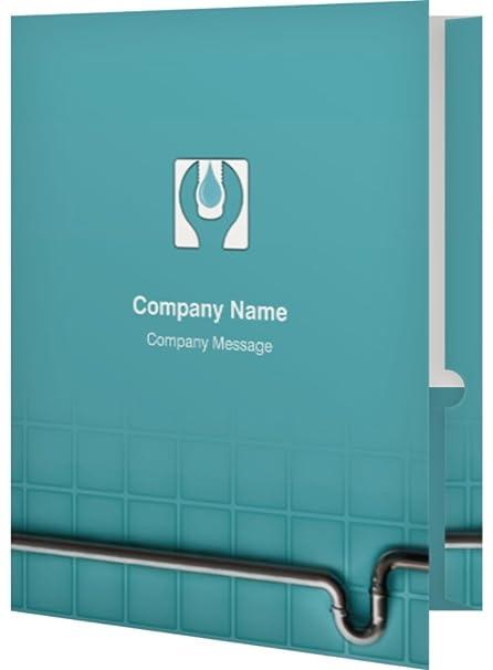 amazon com vistaprint blue pipe folders office products