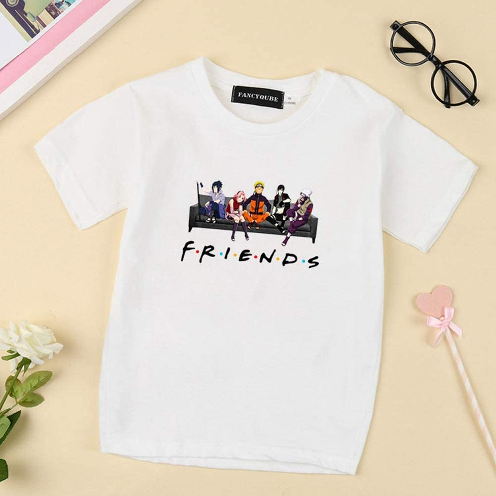 Short Sleeve Crewneck T-Shirts for Kids and Teenagers Peoria Japanese Anime Childrens T-Shirt