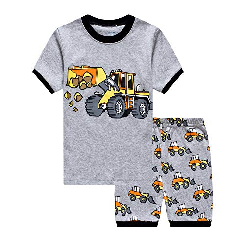 Little Boys Pajamas Shorts Set for Toddler Summer Clothes Trian Dinosaur Sleepwear Cotton 2 Piece Kids Pjs Size 1-8 Years -