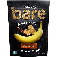 Bare Baked Crunchy Banana Chips 2.7 oz. (Cinnamon - Pack of 2)
