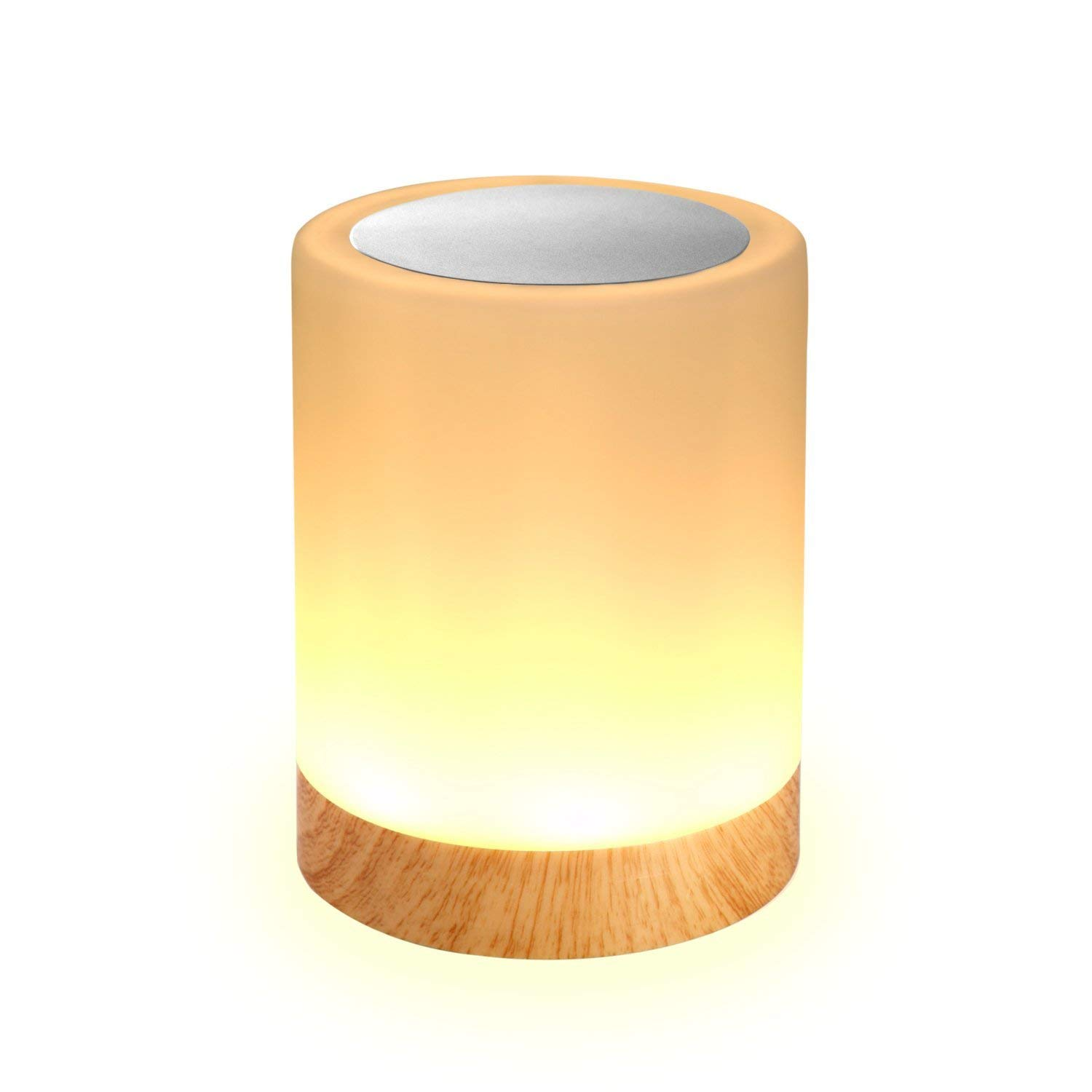 Elecstars Touch Lamp, Portable Night Light + Dimmable Table Bedside Lamps & Color Changing RGB for Bedrooms