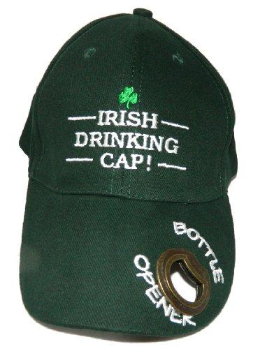 Baseball Cap Irish Drinking Tailgate Hat With Bottle Opener