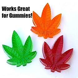 Marijuana Pot Leaf Silicone Candy Mold Trays for C