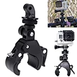Wall of Dragon Black Bike Handlebar Mount Holder Bicycle Accessories Motorbike Clip Support Bracket for GoPro Hero 4/3/3+/2/1 for Camera
