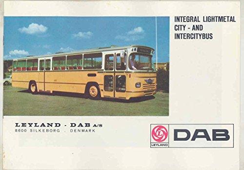 Intercity Bus (1966 ? Leyland DAB Transit & Intercity Bus Brochure Denmark)
