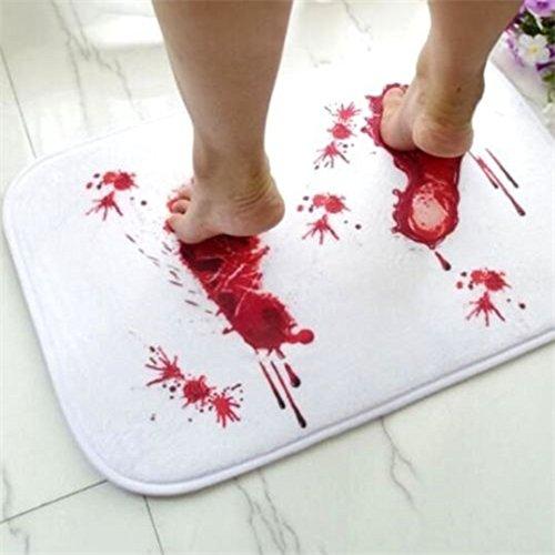 Gothic Punk Blood Foot Bath Shower Mats Carpet Cushion Ho...