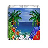 Tropical Beautiful Beach Art Bed Comforter (Toddler 42 x 58)