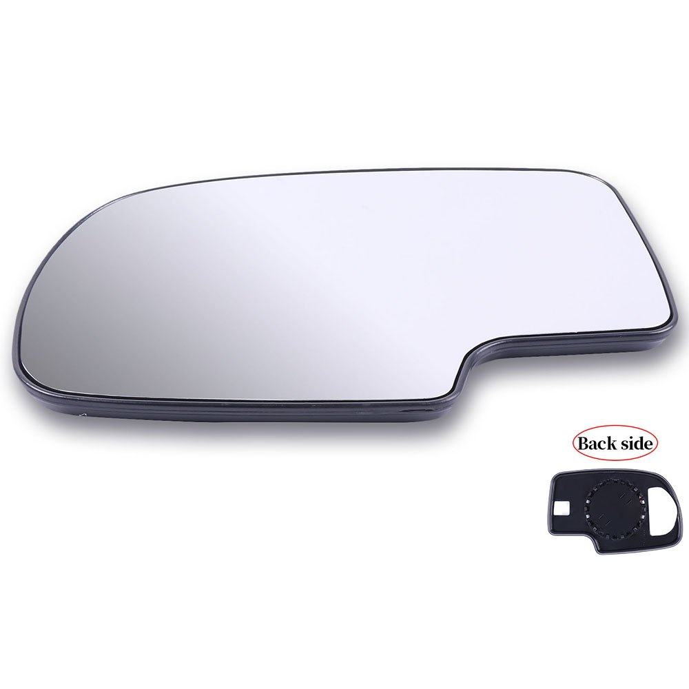 TUPARTS Exterior Left Side Mirrors Glasses Manual Adjustment Fits for 1999-2007 Silverado Sierra 12477843