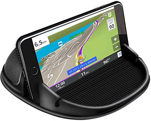 Loncaster Car Phone Holder, Car Phone Mount Silicone Car Pad Mat for Various Dashboards, Slip Free Desk Phone Stand Compatible with iPhone, Samsung, Android Smartphones, GPS Devices and More from Loncaster