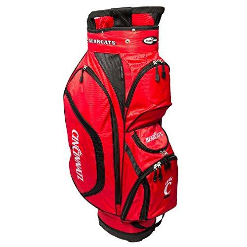 - Team Golf NCAA Cincinnati Bearcats Clubhouse Golf Cart Bag, Lightweight, 8-Way Top with Integrated Handle, 6 Zippered Pockets, Padded Strap, Towel Ring, Umbrella Holder & Removable Rain Hood