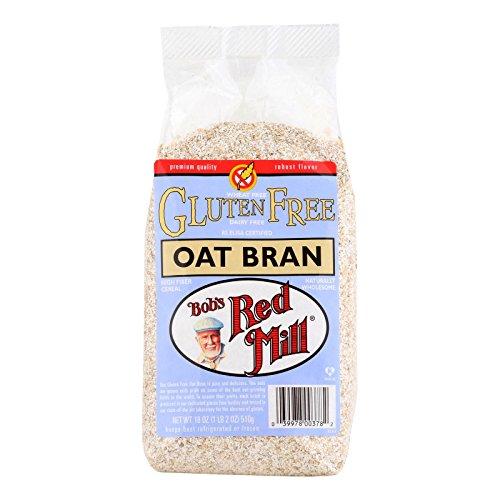 Bobs Red Mill Gluten Free Oat Bran, 18 Ounce -- 4 per - Bulk Bran Oat