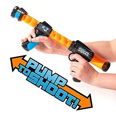 Hog Wild Atomic Power Popper 12X - Rapid Fire Foam Ball Blaster Gun - Shoots Up to 12 Foam Balls: Toys & Games