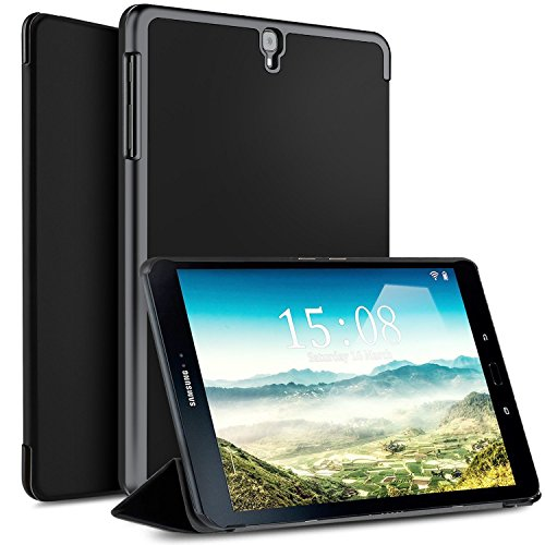 IVSO Case for Samsung Galaxy TAB S3 9.7 - Ultra Lightweight Slim Smart Cover Case-will only fit Samsung Galaxy TAB S3 9.7-inch Tablet w/S Pen SM-T820/SM-825 (Black)