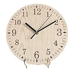 xushihanjjli Wall Clocks for Living Room Handmade Oversized 3D Retro Rustic Decorative Luxury Art Big Gear Wooden Vintage Large On The Silent and Durable