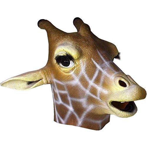 Giraffe Mask Deluxe Latex Animal