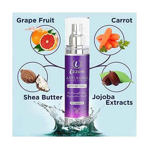 IZZORI PURE ANTI AGING DAY and NIGHT CREAM with HYALURONIC ACID, RETINOL, JOJOBA OIL, SHEABUTTER, VITAMIN E and B5 for… 2021 July VITAMIN C BRIGHTENS & LIGHTENS: IZZORI Pure Anti Aging Cream With SPF 25 For Skin Lightening, Fine Lines, Wrinkles, Dark Spots Uneven Skin Tone, Skin Firmness With Advanced Skin Rejuvenating And Glowing Formula ( 50 G) DEEPER HYDRATION GUARANTEED : Our Anti Aging Cream With Retinol Guarantees Collagen and Elastin Production to Reduce The Appearance Of Wrinkles, Uneven Skintone, Circles & Fine Lines. Your Skin's Capacity to Retain Moisture Will Be Improved Using This Facial Moisturizer RESTORE THE ESSENCE OF YOUTH NOW: With Only the Best Face Moisturizer That Visibly Smoothes Fine Lines And Wrinkles for A More Radiant, Firm YouthFul Skin. This Face Lotion for Women And Men Is Formulated With 5 Proven Bio-Active Ingredients: 2.5% Retinol, Hyaluronic Acid, Vitamin E, Green Tea & Jojoba Oil