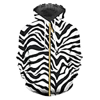 zippern Mens Leopard 3D Hoodies Printing Zebra Stripes Funny Large Winter Pullover