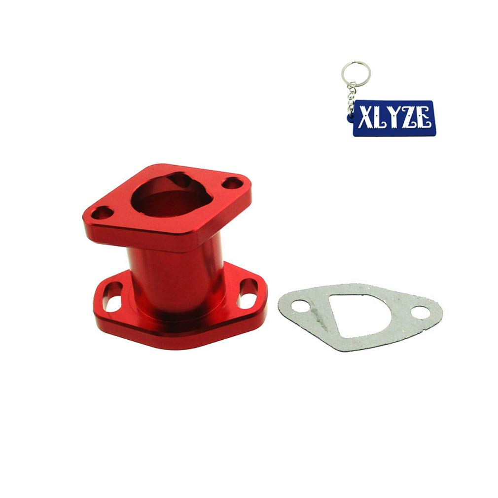 XLYZE Performance Aluminum Intake Manifold For Predator 212cc GX200 196cc 6.5HP Chinese OHV Mini Bike Go Kart (Red)