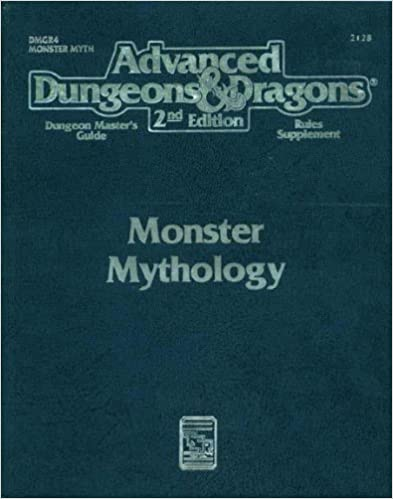 Monster mythology advanced dungeons dragons dungeon masters monster mythology advanced dungeons dragons dungeon masters guide rules supplement2128dm5r4 2nd edition fandeluxe Gallery