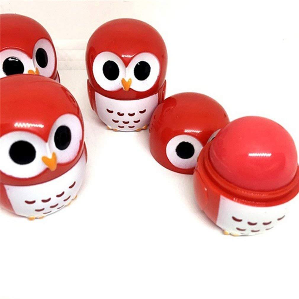 KinshopS Owl Shape Moisturizing Lip Balm Portable Women Winter Lip Care Lip Balm