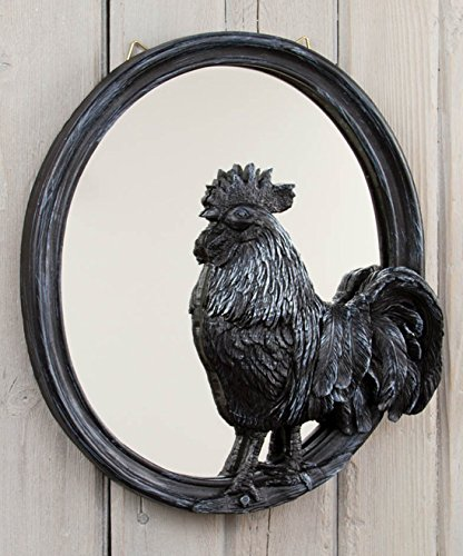 Charming Country Primative Decor: Rooster Wall Mirror *** GREAT GIFT ***