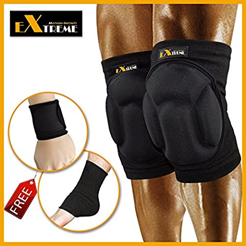 Motion Infiniti - Best Volleyball Knee Pads - No More Bruises with This Multi-purposed Knee Pads - Premium Made for Flooring, Gardening and Wrestling Knee Pads- 100% Money Back (G Shocks X Large)