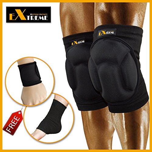 Motion Infiniti - Best Volleyball Knee Pads - - Mens Wrestling Knee Pads