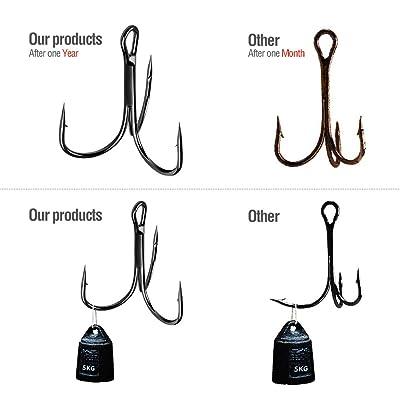 Fishing Hook Tackle Treble 50pcs Black Equipment Fisherman Accessories