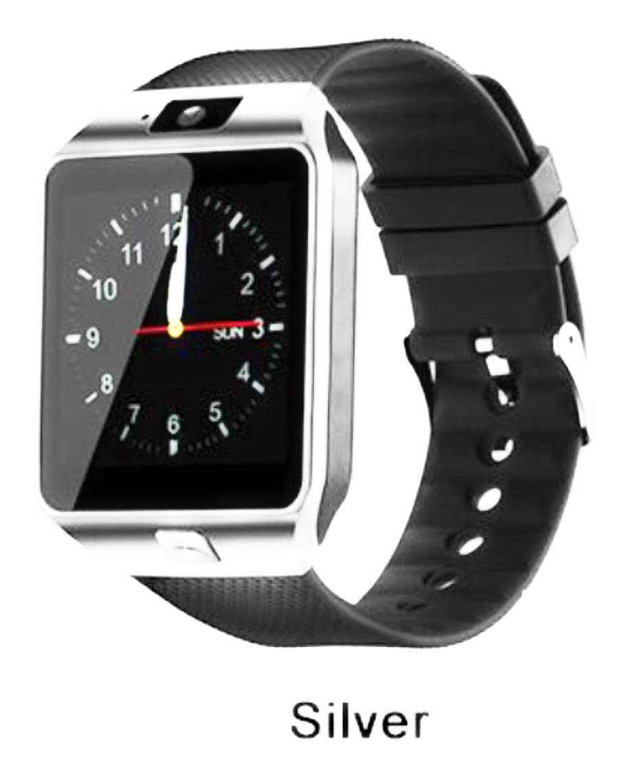 Amazon.com: DZ09 Smartwatch for Android Silver W/Black Band ...