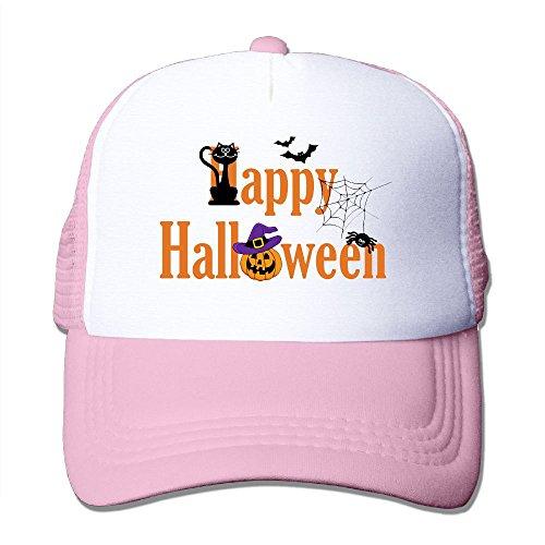 College Station Halloween Activities - Halloween Unisex Grid Baseball Caps Sunshade Hat Adjustable Novelty Pink