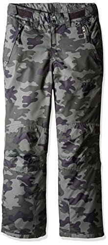 Arctix Youth Snow Pants with Reinforced Knees and Seat, Green Camo, Small