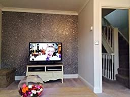 Glitter Wallpaper Grade 3 Silver SOLD BY THE METRE Kitchen A