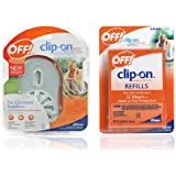 OFF!® Clip-OnTM Mosquito Repellent Starter Kit w/ 3 Refills & 2 AAA Batteries - Personal mosquito protection you don't spray on!