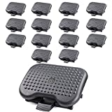 Under Desk Foot Rest, Black Footstool & Office Ergonomic Footrest, Adjustable Angle & 3 Different Height Positions, 18.1'' X 13.3'' - Great for Home & Work - 15 Pack