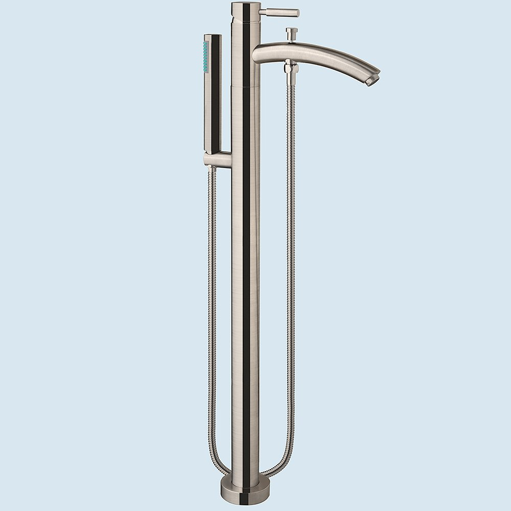 Wyndham Collection Taron Modern-Style Bathroom Tub Filler (Floor ...