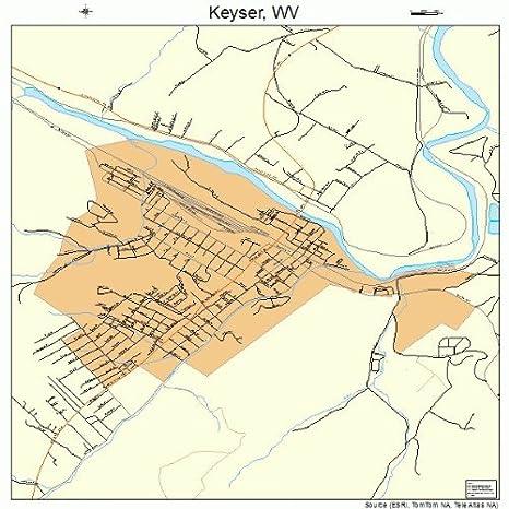 Brilliant Amazon Com Large Street Road Map Of Keyser West Virginia Home Interior And Landscaping Ymoonbapapsignezvosmurscom