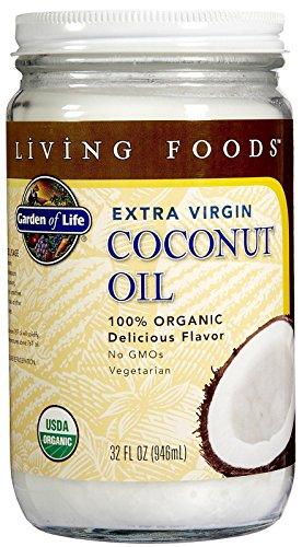 Garden of Life Organic Unrefined Extra Virgin Coconut Oil - Healthy Vegan Cooking Oil, 32oz Liquid