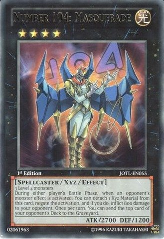 Yu-Gi-Oh!! - Number 104: Masquerade (JOTL-EN055) - Judgment of the Light - 1st Edition - Rare (The Best Xyz Monsters)